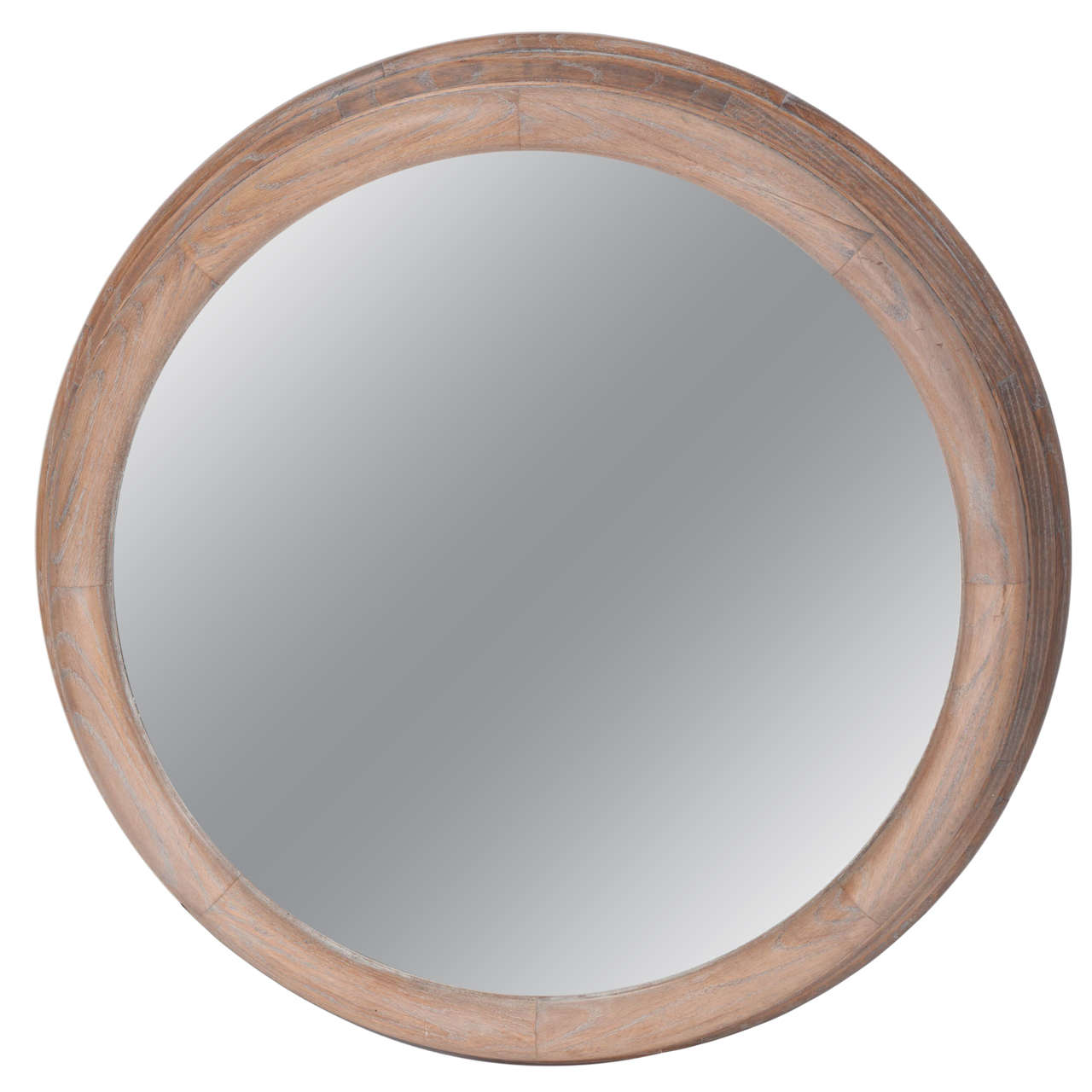 Vintage bleached oak round wall mirror at 1stdibs vintage bleached oak round wall mirror 1 amipublicfo Images