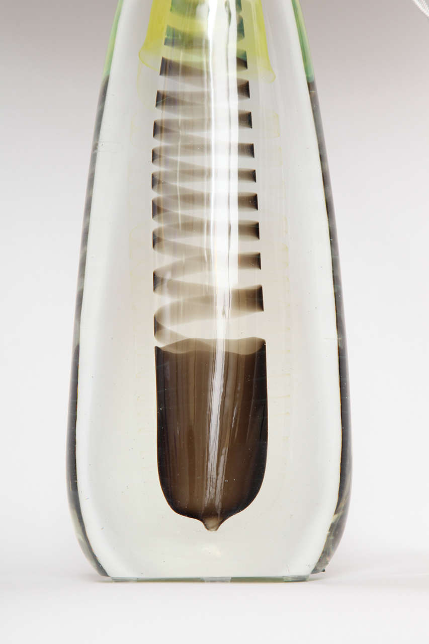 Mid-20th Century 1950s Italian Art Glass Lamp by Fratelli Toso For Sale