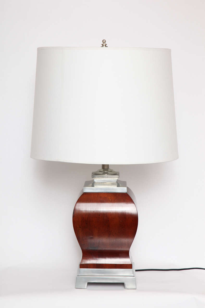 Mid-Century Modern Pair of 1940s, Art Moderne Table Lamps For Sale
