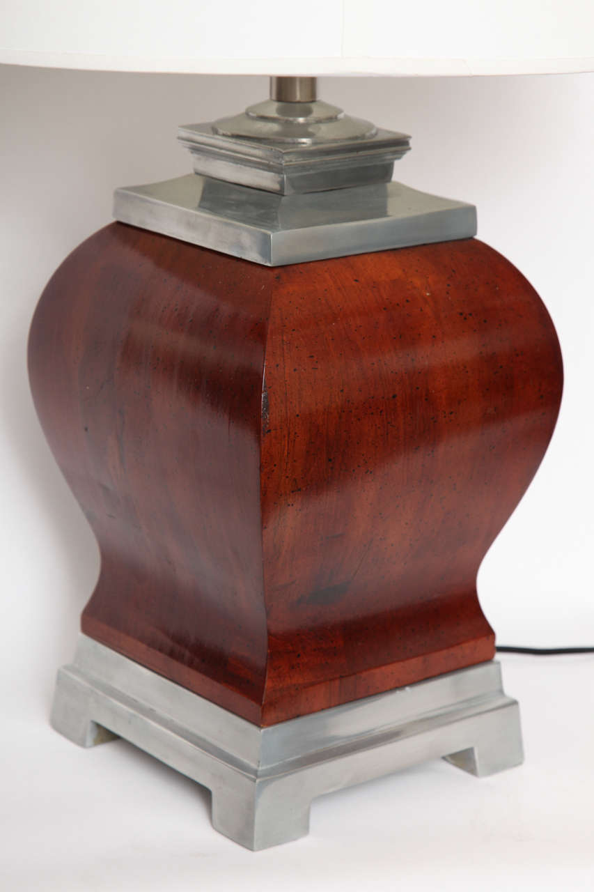 Mid-20th Century Pair of 1940s, Art Moderne Table Lamps For Sale