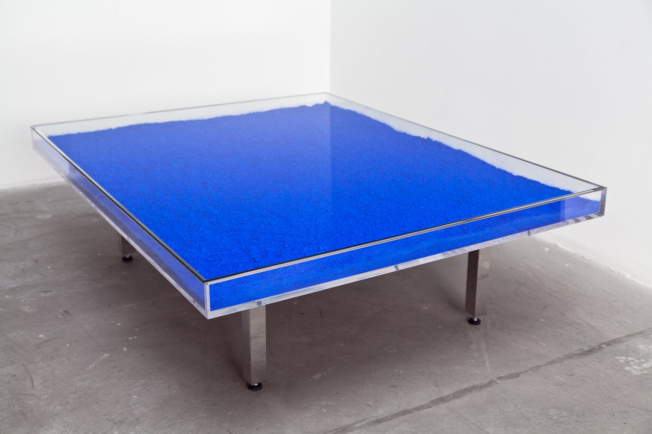 Yves Klein Table Bleue At 1stdibs