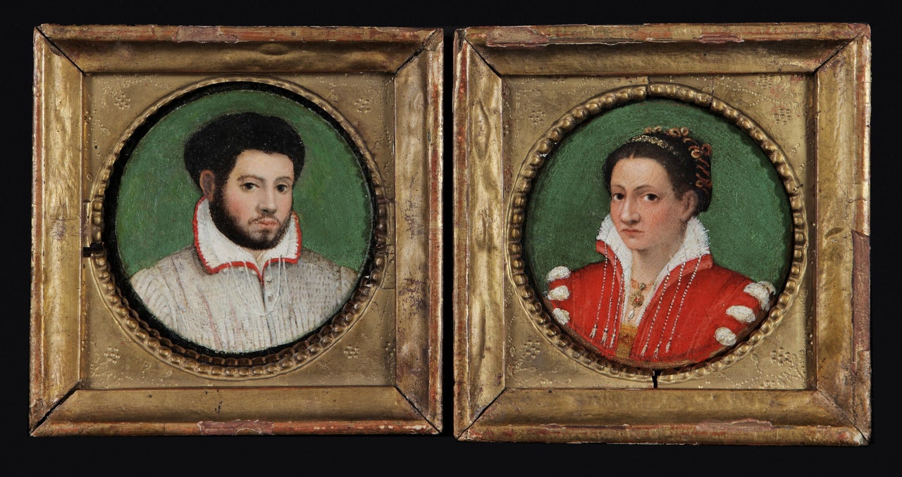 Paired Portraits of a Married Couple