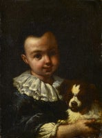 A Boy with a Dog (One of a pair)