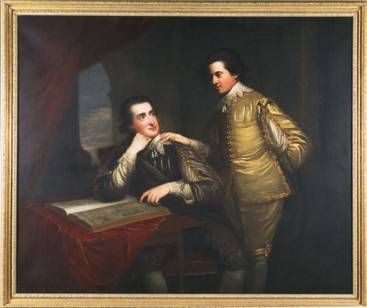Portrait of George and Edward Finch-Hatton in Van Dyck Dress