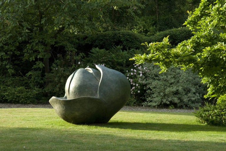 Monumental Magnolia Bud - garden sculpture - artist in Royal Enclosure, Ascot