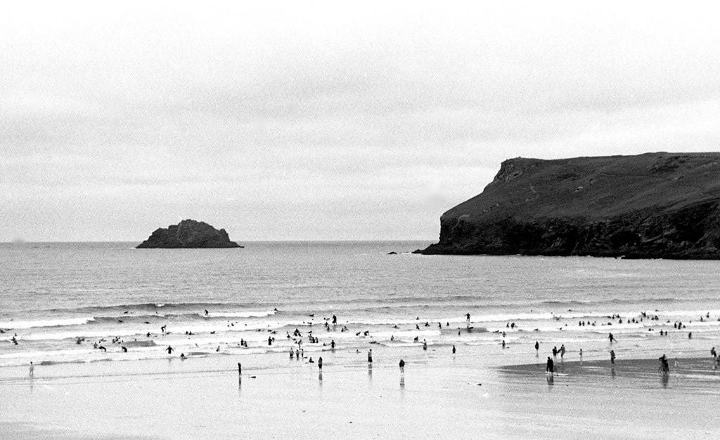 """Tiny Surfers in the Celtic Sea, Polzeath"", Cornwall, UK, 2010"