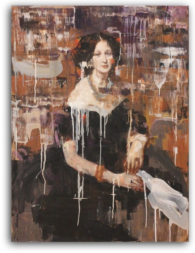 Rimi Yang Figurative Painting - Madam in Content