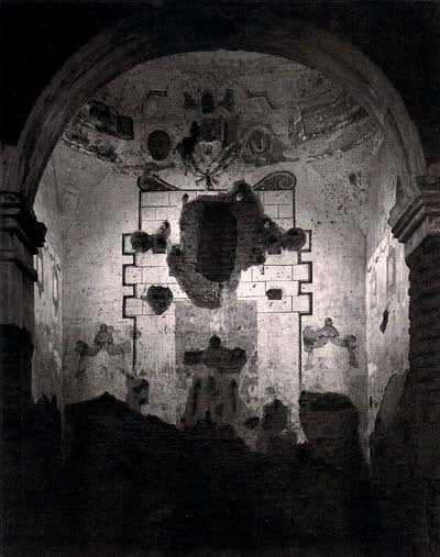 Interior of Tumacoacori Mission, Arizona