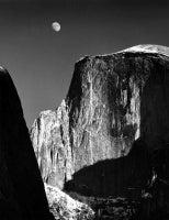 Moon and Half Dome, Yosemite, CA