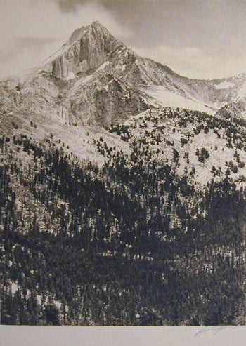Ansel Adams Black and White Photograph - Mount Clarence King