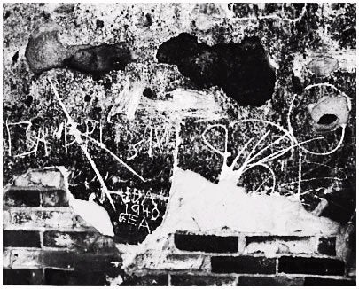 Edward Weston Abstract Photograph - Wall Scrawls, 1940