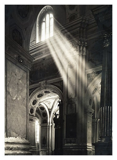 Roman Loranc Black and White Photograph - Angel Silhouette