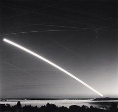 Harvest Moon Over Puget Sound, Seattle, Washington, USA, 2013