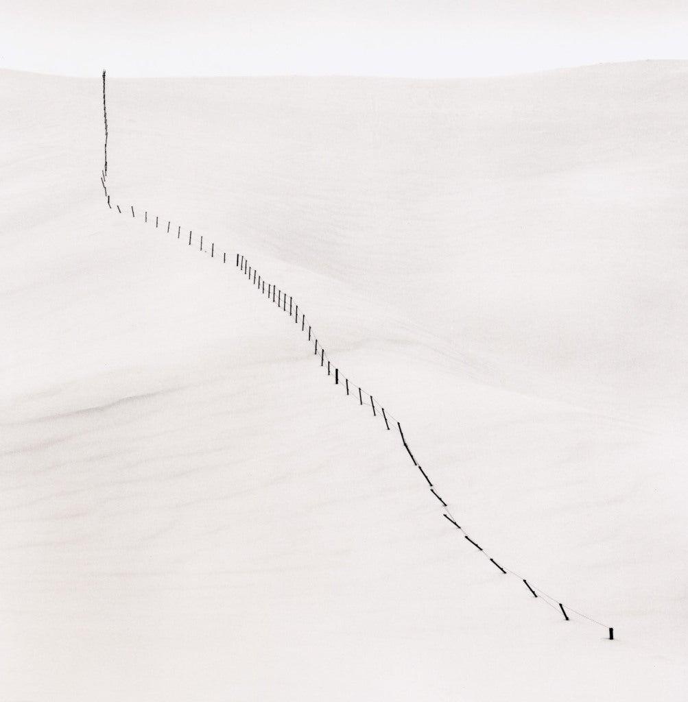 Michael Kenna - Hillside Fence, Study 5,  Teshikaga, Hokkaido, Japan 1