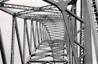 Runcorn-Widnes Bridge, Study 1, Widnes, Cheshire, England, 1973
