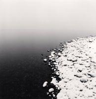 Snow on Pebbles, Toya Lake, Hokkaido, Japan, 2009