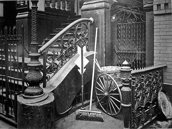 Stairway with Broom, New York, NY
