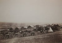 Artillery Wagons, Balaklava in the Distance