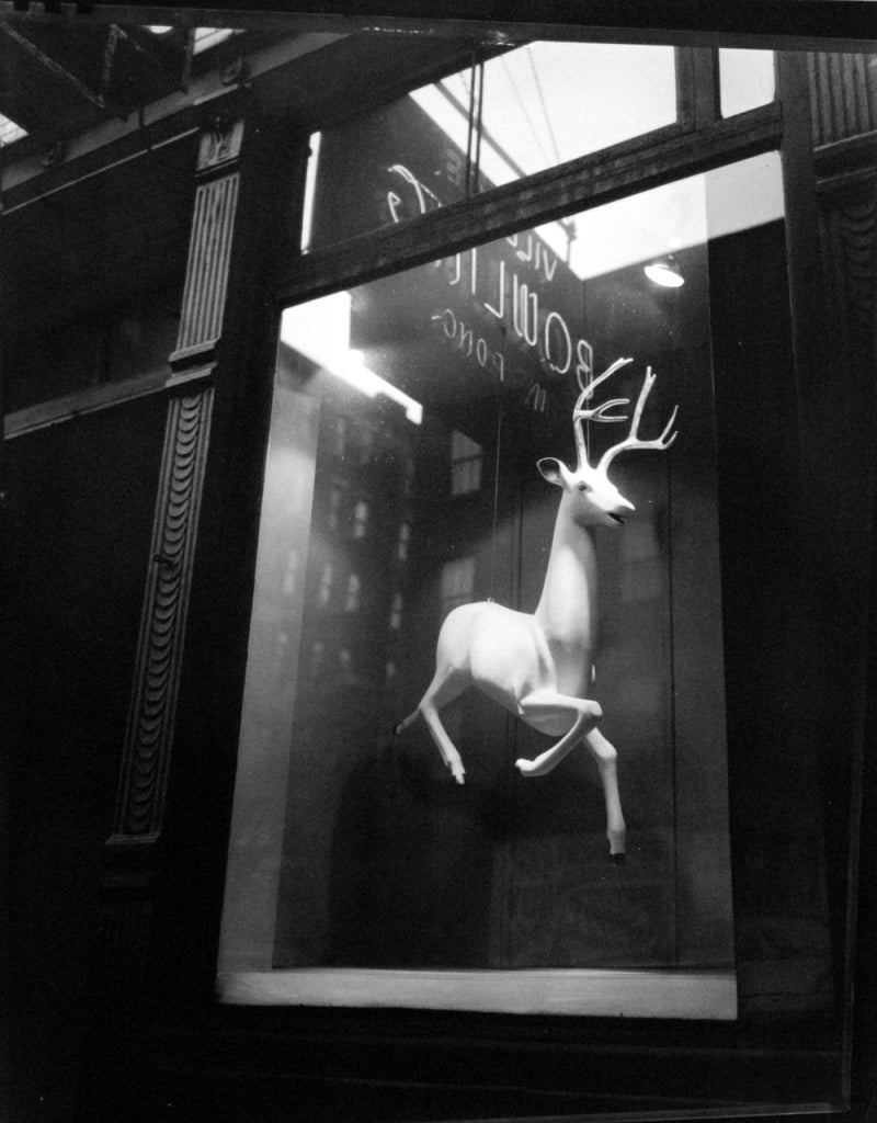 Berenice Abbott Black and White Photograph - Designer's Window, Bleecker Street