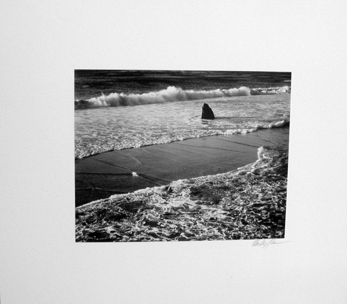 Double Surf, Garrapata Beach, Sur Coast, 1966 - Photograph by Morley Baer