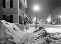 Center of Town after Blizzard, Woodstock, Vermont