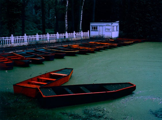 Cole Weston Color Photograph - Punts, Les Quesnoy, France