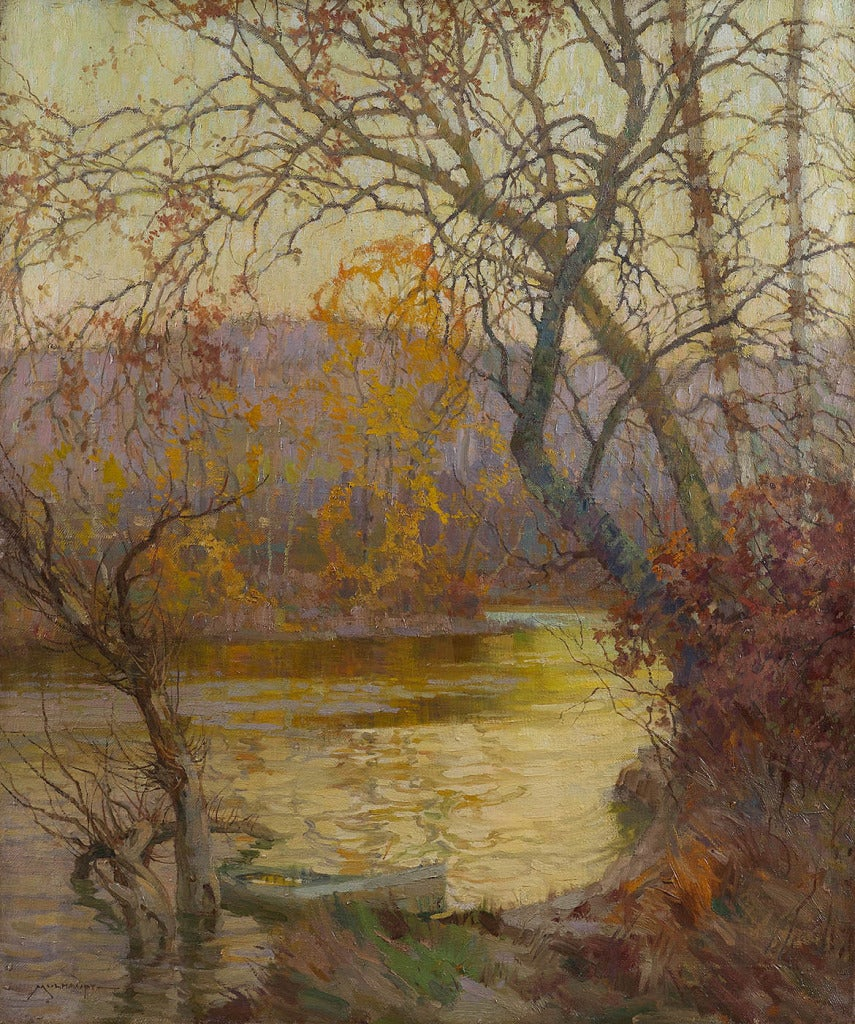 Frederick J. Mulhaupt - An October Evening, Painting at 1stdibs