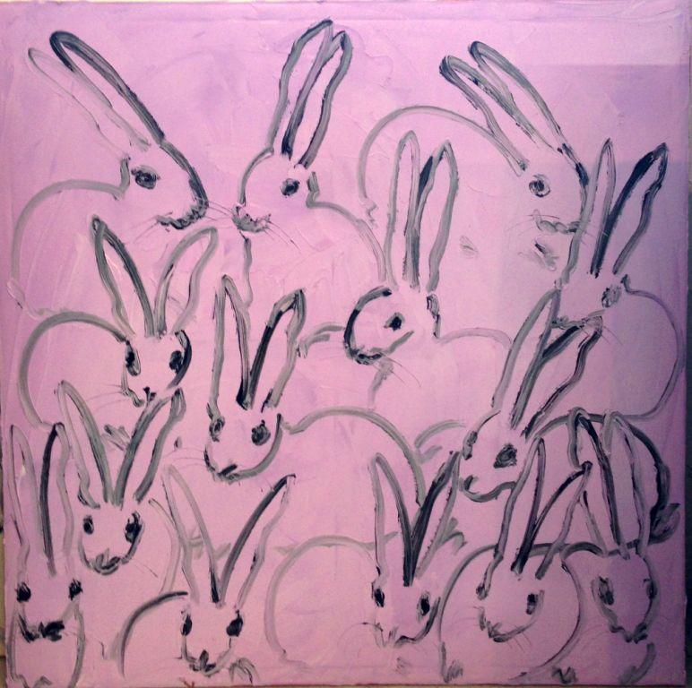 Hunt Slonem Bunny On Pink Painting At 1stdibs