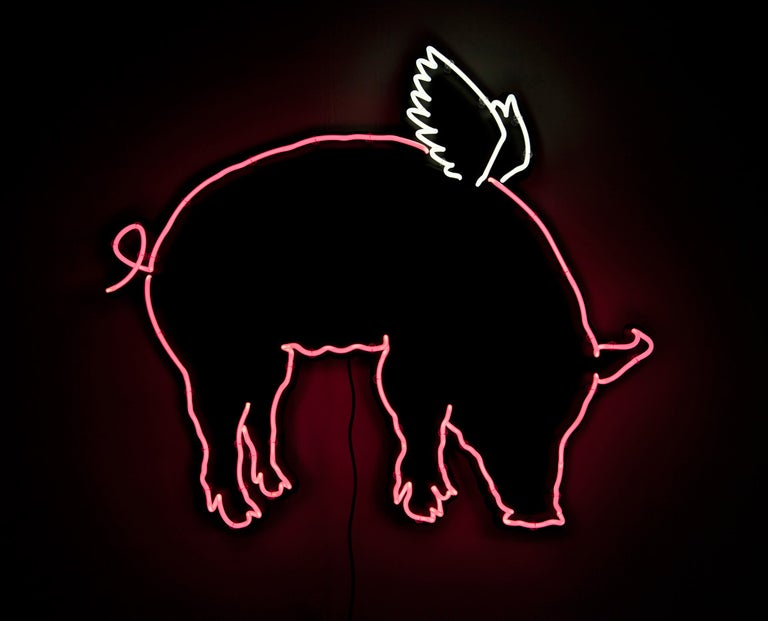 Pig with Wings - Mixed Media Art by Dan Bruce