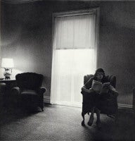 LADY IN A ROOMING HOUSE PARLOR, ALBION, NY