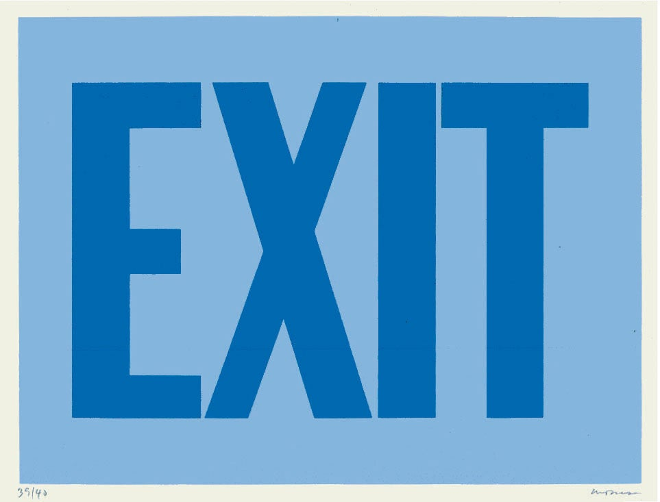 Exit (Blue) - Print by Olivier Mosset