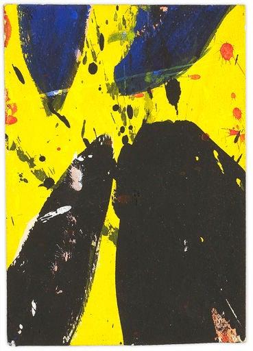 Sam Francis Blue Yellow And Black At 1stdibs