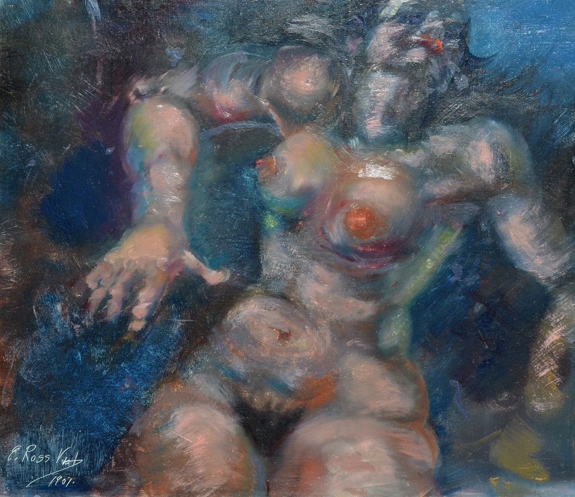 E. Ross Vistot Figurative Painting - Modern Nude