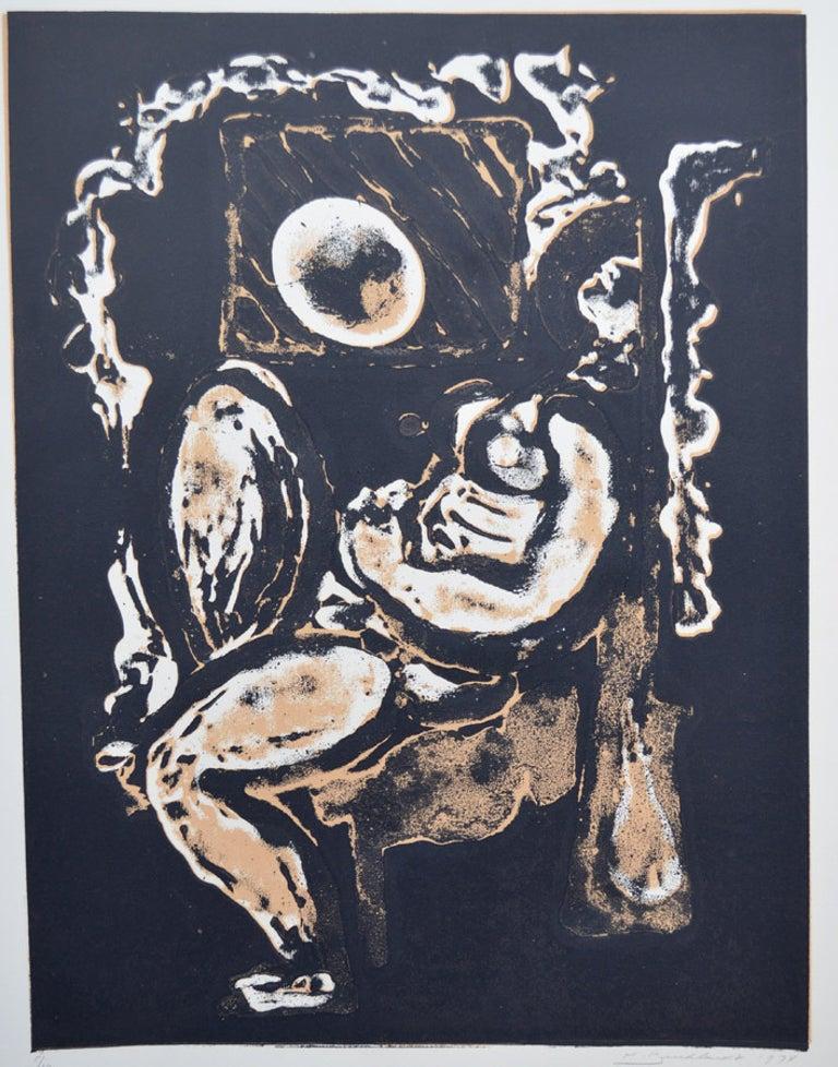 Hans Gustav Burkhardt Figurative Print - Nocturn