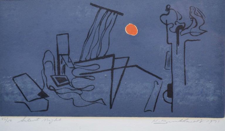Hans Gustav Burkhardt Landscape Print - Silent Night