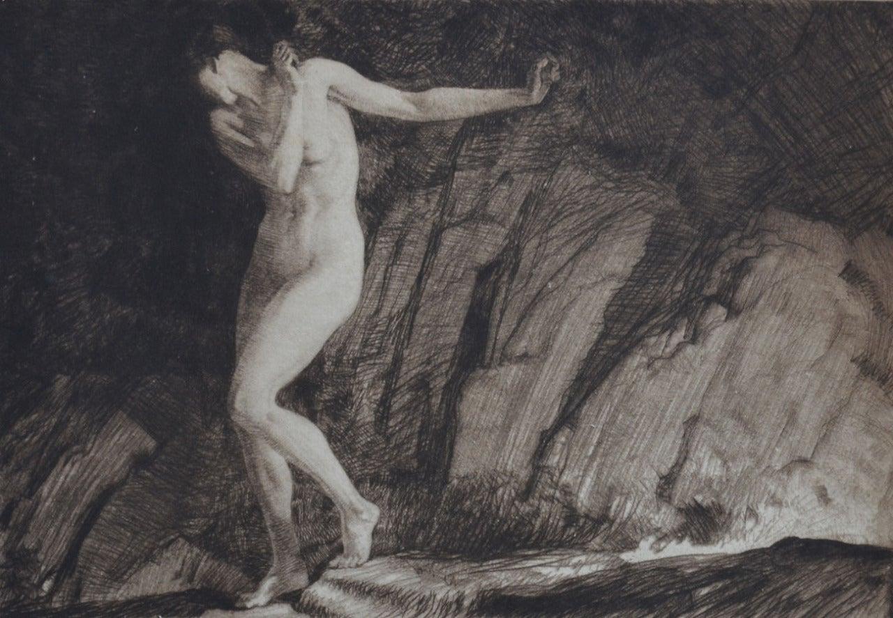 William Russell Flint Nude Print - Eve