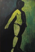 Cubist Nude in Green