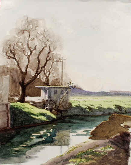 Robert Mcintosh Stream In Stockton Painting For Sale At