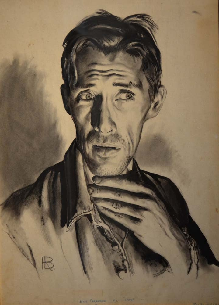 Ron Blumberg Figurative Painting - John Caradine - Casey_ Grapes of Wrath
