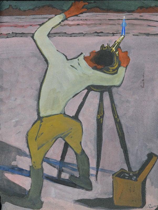 Ron Blumberg Figurative Art - The Surveyor