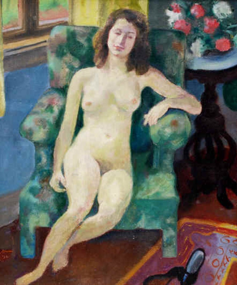 Ron Blumberg Figurative Painting - Elaine by the Window