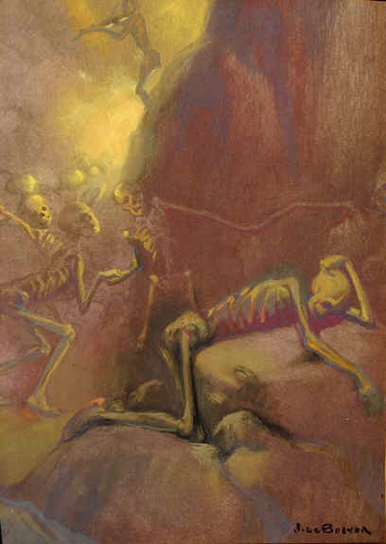 Jan Frans Deboever Nude Painting - La Danse Macabre