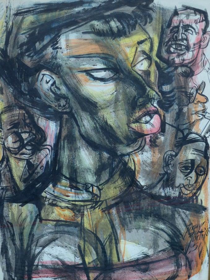 Jirayr Hamparzoom Zorthian Figurative Painting - Jazz Band