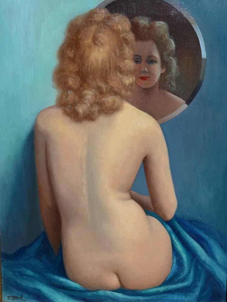 Jean Jannel Figurative Painting - Le Miroir