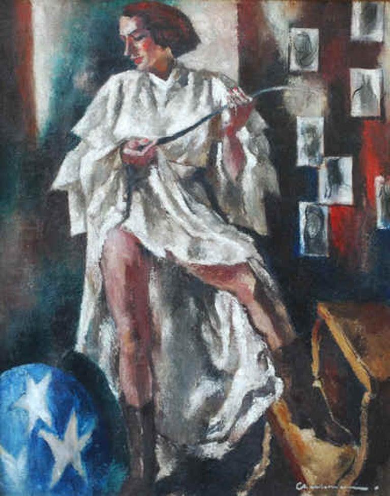 Paul Charlemagne Interior Painting - Femme du Cirque