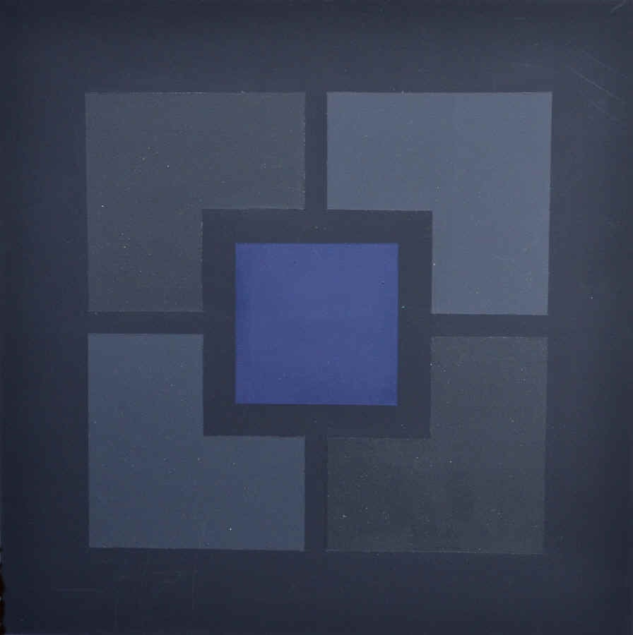 Jules Engel Abstract Painting - Squared