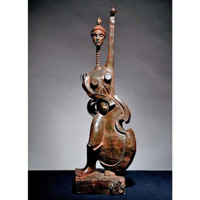 Contrebasse - Sculpture by Mariko
