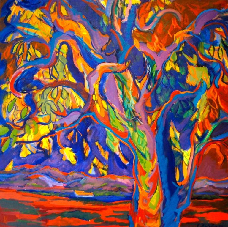 Evelyne Ballestra Landscape Painting - Tree of Life