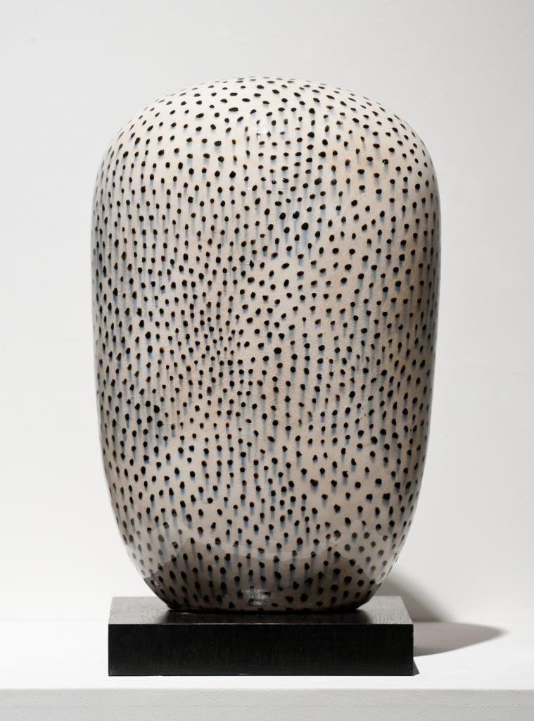 Jun Kaneko Abstract Sculpture - Small Polka Dot Dango