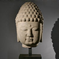 Magnificent and Monumental Stone Head of Buddha